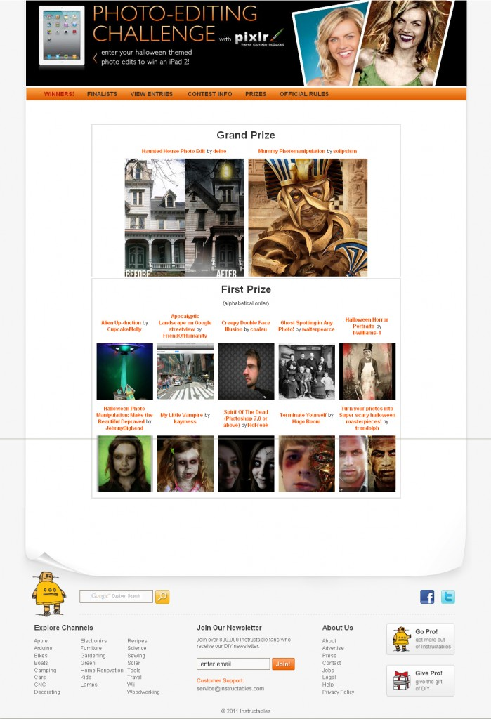 pixlr photoshop contest instructables oct 2011 ipad 2 prize page copy